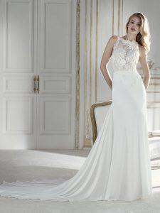 corte recto de vestido de novia